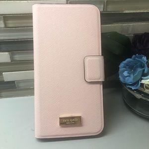 Kate Spade Pink IPhone 6/7 Plus wallet case